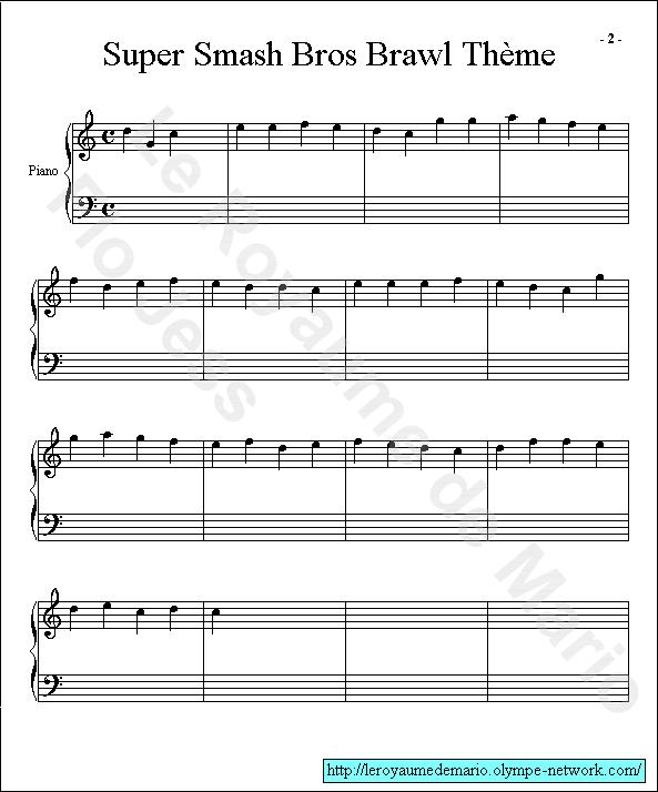 partition musique super mario bros
