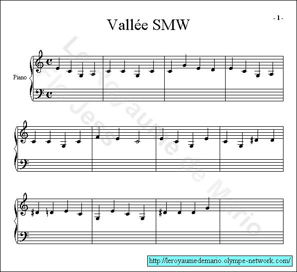 partition musique mario